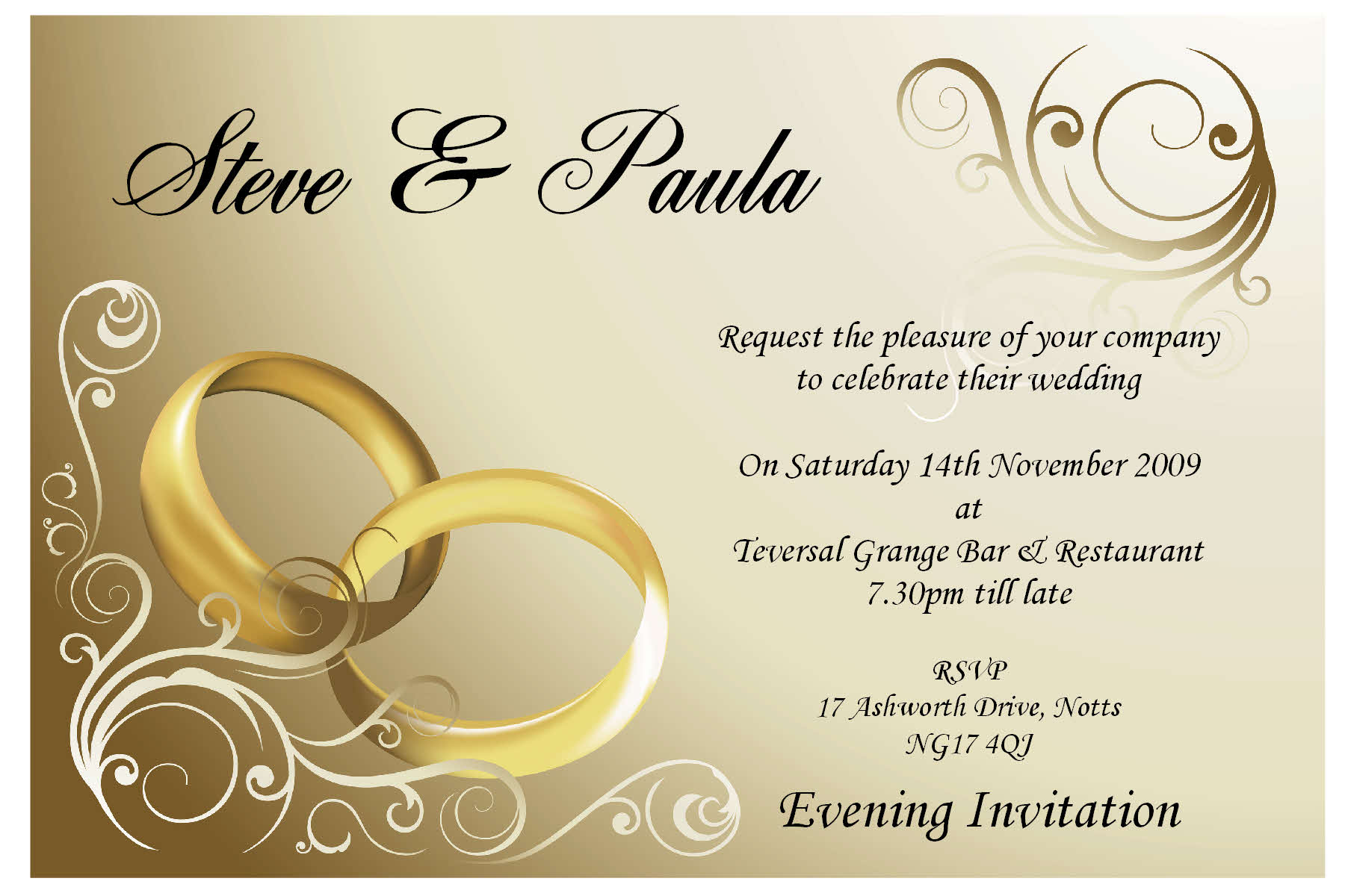 Wedding Invitation Picture: Wedding Invitations